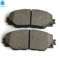 brake pads spare 4pcs Ceramic Car Front Disc Brake Suitable for Toyota Corolla Brake Pad Car Accessories pastillas de freno