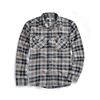 Custom design logo checked flannel shirt for man check brushed mens shirts