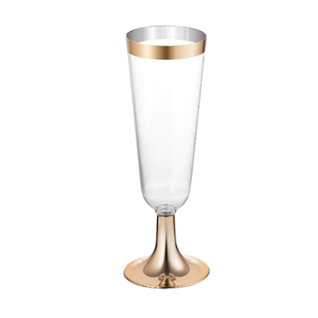 5.5 Ounce cocktail glasses disposable plastic champagne flutes