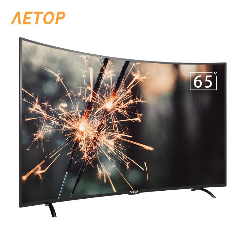 RTS-65 인치 LED TV 곡선 화면 안드로이드 tv 4k HDR 스마트 TV wifi