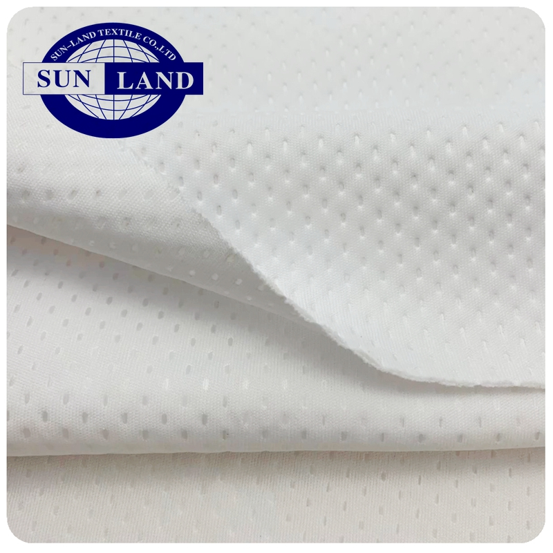 China factory hot sale 100% polyester 3D ultrasonic embossing bonded tight knit 40 Gauge 30D interlock double layer fabric