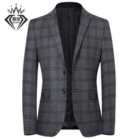 2019 men's casual suit spring and autumn new plaid youth small suit male slim suit
