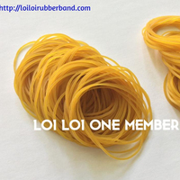 Small popular size Thin beautiful Rubber band produce from SVR 3L Bright yellow color natural rubber elastic bands to tie money