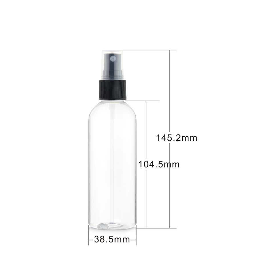 Free samples clear plastic pump mist spray bottle with white sprayer cap