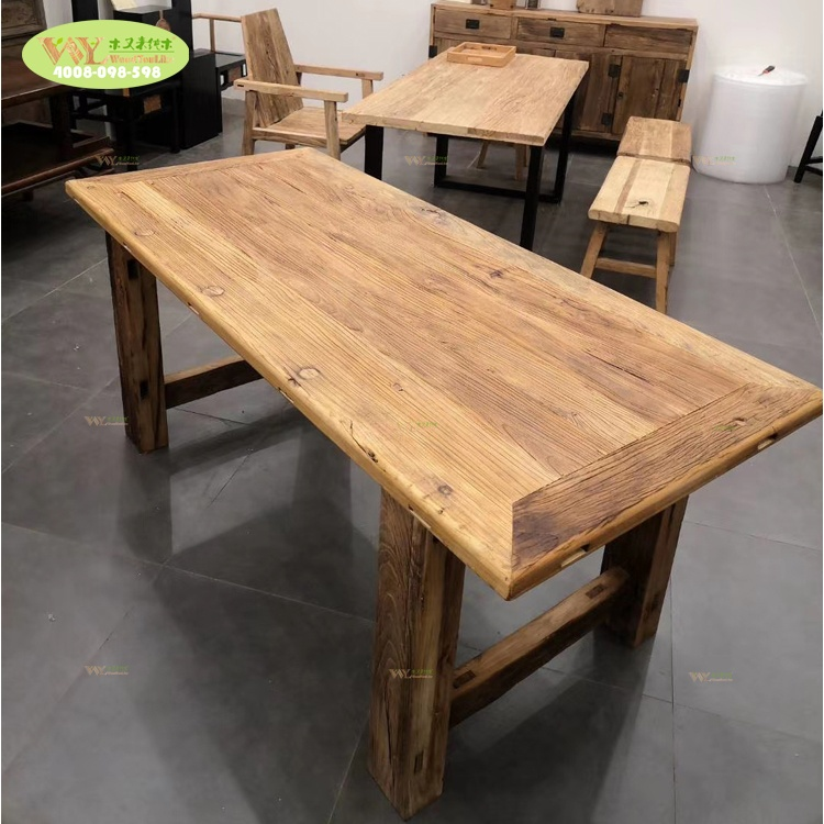 Chinese door recycle elm wood <strong>dining</strong> <strong>table</strong> / Reclaimed elm wood <strong>dining</strong> <strong>table</strong> for restaurant hotel