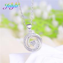 Женское Ожерелье Juya, золотое/розовое золото, с микро цирконием и бабочкой, ожерелье с подвеской для собак(Китай)