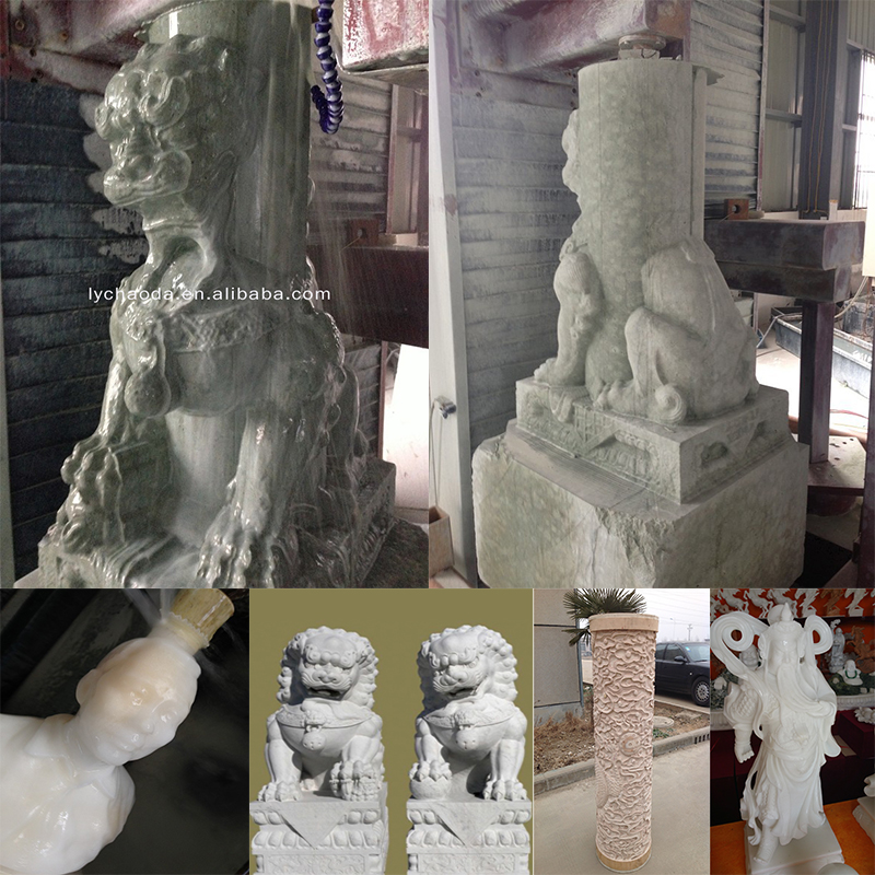 4 Axis 5 axis 3D Marble Stone Sculpture Buddha Statue Making Machine