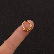 Chissen 1 шт., Пирсинг из нержавеющей стали, носовое кольцо, серьги-хрящи, Открытое кольцо для соска, пирсинг, пупка, кольца, ювелирные изделия для...(Китай)