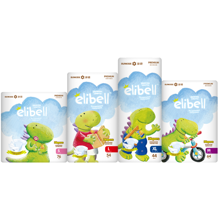top quality smart soft care disposable elibell baby diaper