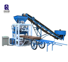 QT4-23A Paving block making machine,High quality automatic cement brick pressing machine