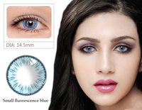 2019 Small fluorescence Colored Contact Lenses Cosmetic Makeup Soft Korea Solotica Contact Lens