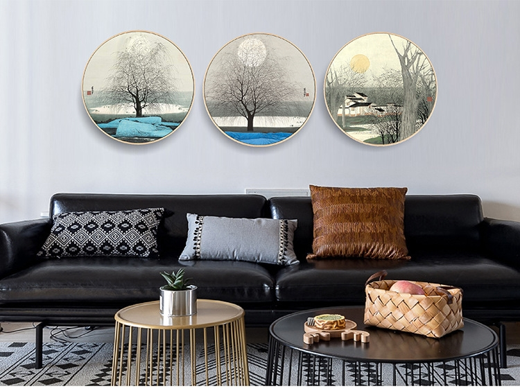 Chinese Classical Round Painting Framed Abstract Style Art Abstract Printing On Canvas Custom Abstract Landscape Painting Buy Printing On Canvas Abstract Painting Landscape Painting Product On Alibaba Com