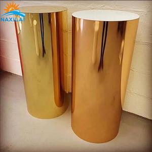 NAXILAI Custom plinths display acrylic round wedding acrylic plinth And plinths display acrylic wedding stand