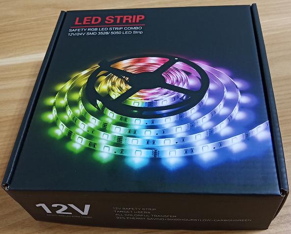 Complete set 12V 5050 ip65 led light strip with IR remote rgb controller