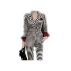 Bespoke business striped woman slim fit suits