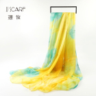 Hot sale newest style classic bubble chiffon flower print scarf