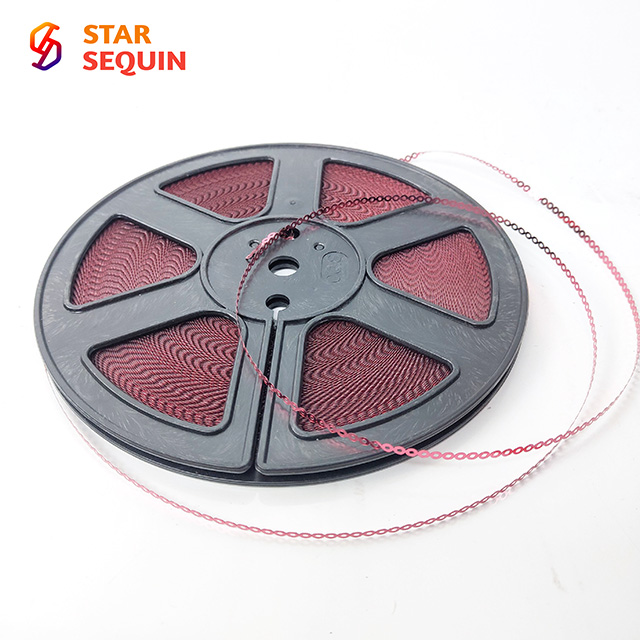 Round Center Hole Glossy PET heat resistant sequin cd for embroidery