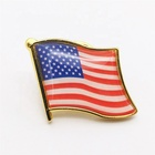 custom free sample country metal usa american flag epoxy dome lapel pin