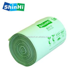 Custom logo eco friendly cornstarch compostables green plastic bolsas biodegradable garbage bags