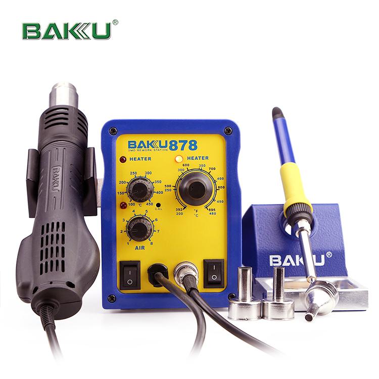 BAKU Hot Selling infrared bga rework station+Soldering Iron Station hot air BK-878