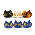 latest design cute animal print cat hair clips for girls fancy plastic acetate resin alligator clip for hair jewelry accessories