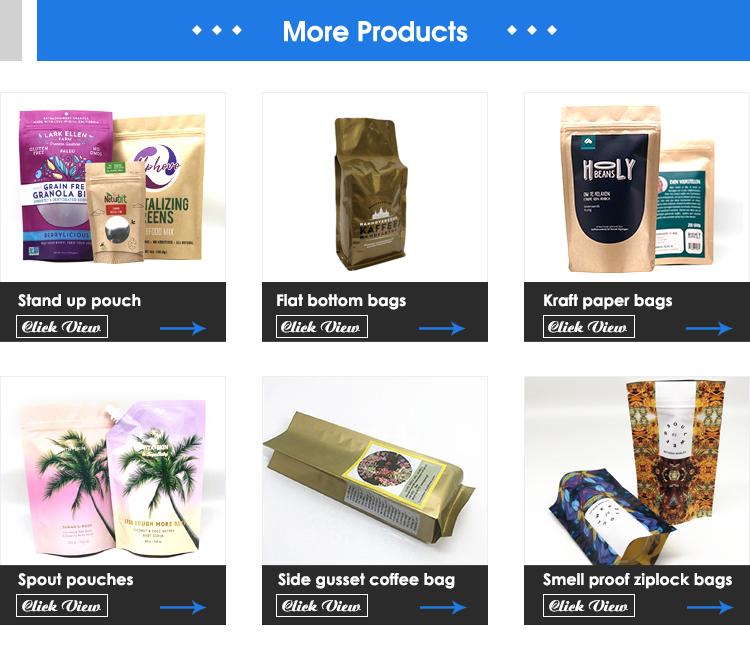 Werbe Lebensmittel Beutel Taschen Verpackung Kraft Papier Ziplock Aufstehen Beutel