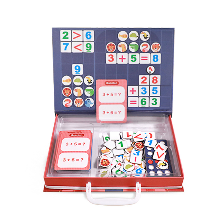 Early Educational English Letters Figure Card Game Magnetic Board Puzzle Math Toys Wholesale