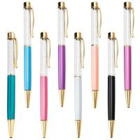 Japan hot sale promotional ball pen with liquid creative DIY floater pen colorful glitter ballpoint pen