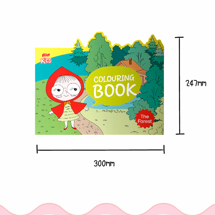 BLOT BRNB00004 Wholesale Educational Fancy Paper Softcover Print Coloring Book Set