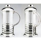 Sleek French Coffee Press Espresso Tea Maker with Triple Filters Stainless Steel Plunger