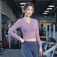 Весна 2020, новинка, линия одежды для йоги-Женский блейзер, боди с длинными рукавами, перекрещенная Красивая спина, быстросохнущая футболка(Китай)