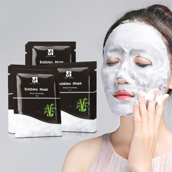 Oem /Odm Private Label Deep Cleansing Face Moisturizing Facial Sheet Korea Bubble Mask