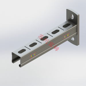 Robust wall support plain stainless super strut extruded steel channel unistrut