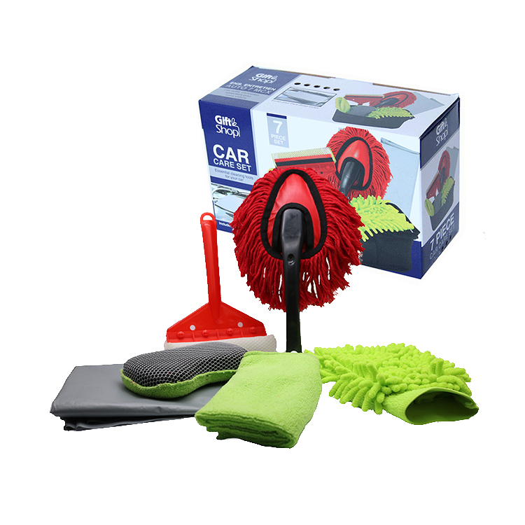 Draagbare 7 PCS care set cleaning wassen care tool kit microfiber auto wassen & detaillering kit car cleaning set