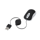 Mini USB Retractable Cable Optical Travel Mouse for PC Laptop