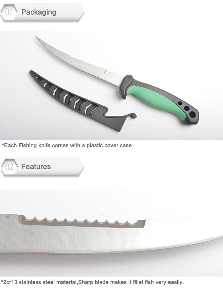 High Quality Soft Rubber Handle Fillet Knives Fishing Knife Fillet Knife Fish