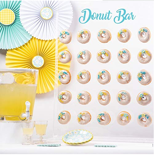 Donut Wall Display-Donut Stand,Wall Doughnut Holder-Clear,<strong>Acrylic</strong>,Standing- Floating Display Donuts For Party