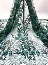 Африканская кружевная ткань 2020, высокое качество, модный французский блестящий материал, вышивка, тюль для Нигерии, для свадебной вечеринки...(Китай)