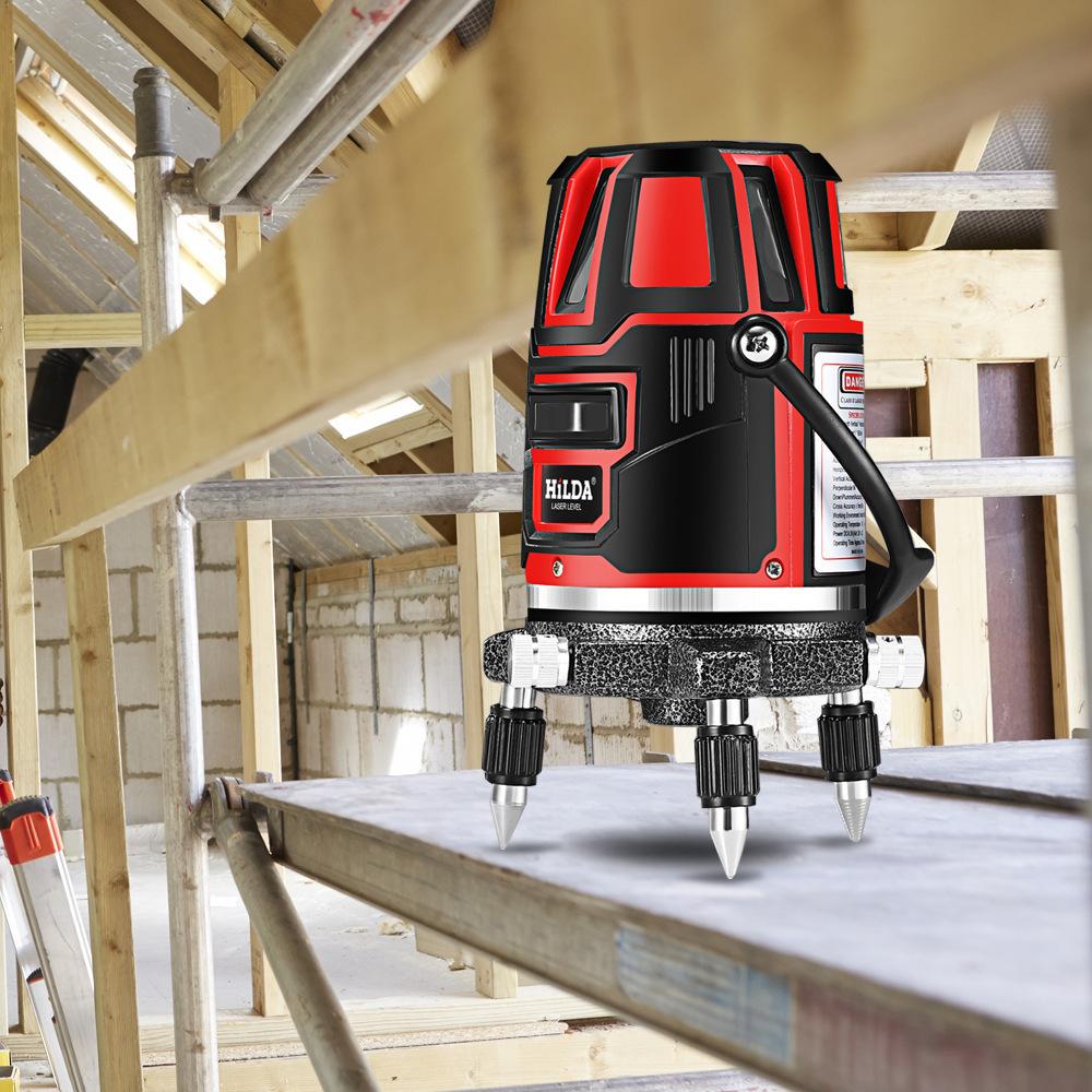 Laser niveau laser à faisceau vert croix 5 ligne auto-nivelant 360 automatique rotatif construction nivel niveau laser 360 degré machine outil