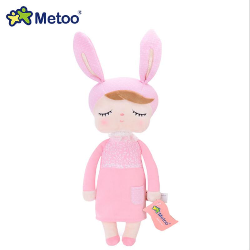 Настоящая кукла Metoo набивные плюшевые игрушки животные Дети для девочек мальчиков Kawaii детские плюшевые мультфильм Анжела кролик, мягкие иг...(Китай)