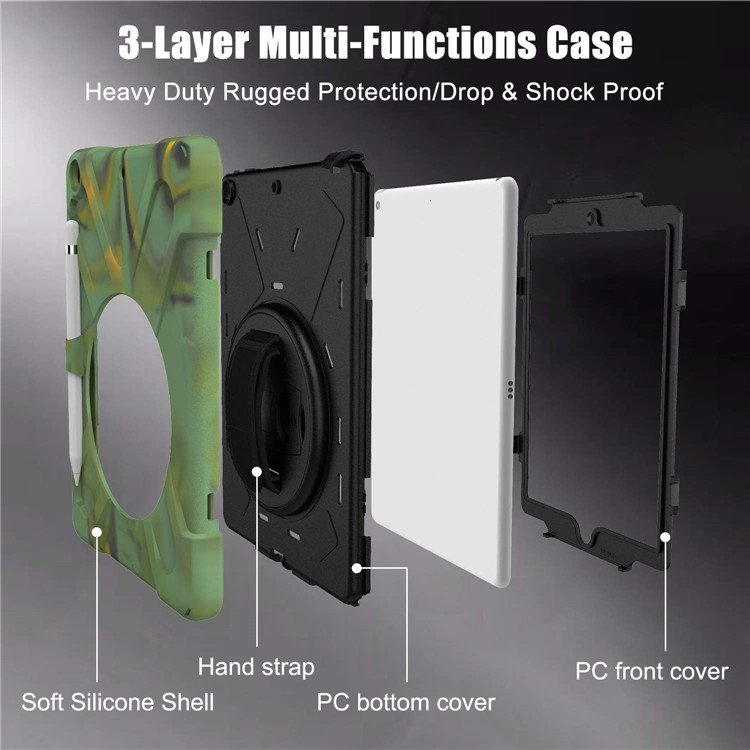 MoKo Rugged Protective Shockproof Hard PC Explosion Proof Tablet Case 360 for iPad 10.2 Rugged Case 2019/2020