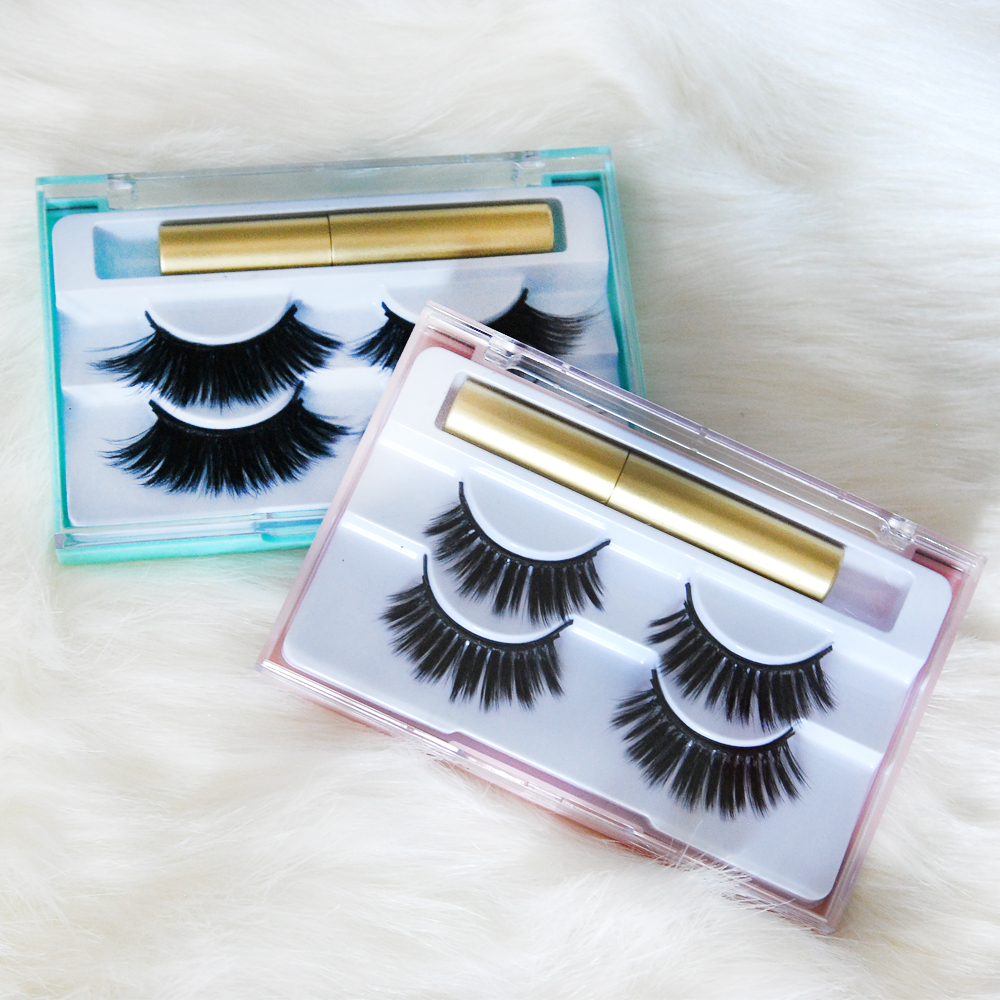 2019 new trade hot style Faux mink best quality magnetic eyeliner lashes фото