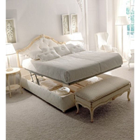 New product Italian Luxury Bed with Storage with a twin action spring storage bed