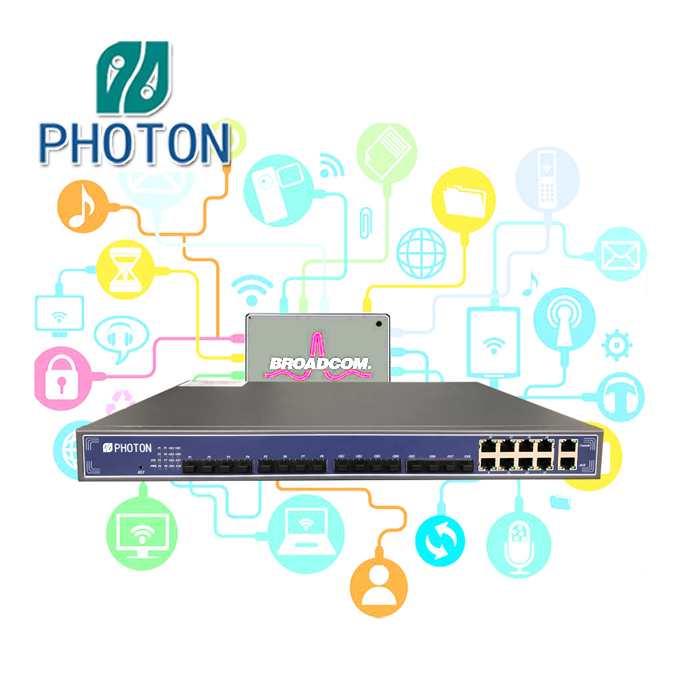 FTTH FTTB Layer3 8 PON Ports GPON OLT with 10G uplink