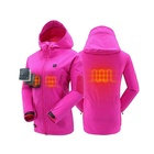 Woman Outdoor sports heated jacket skiing with 7.4v rechargeable battery