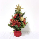 Festival decoration artificial PE 40cm mini tree for xmas gift with red ceramic basin