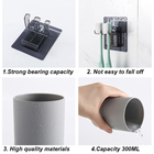 Plastic Toothbrush Holder with Gargle Cup Wall Suction Cups Rack Shaver Tooth Brush Dispenser Bathroom Accessories Set