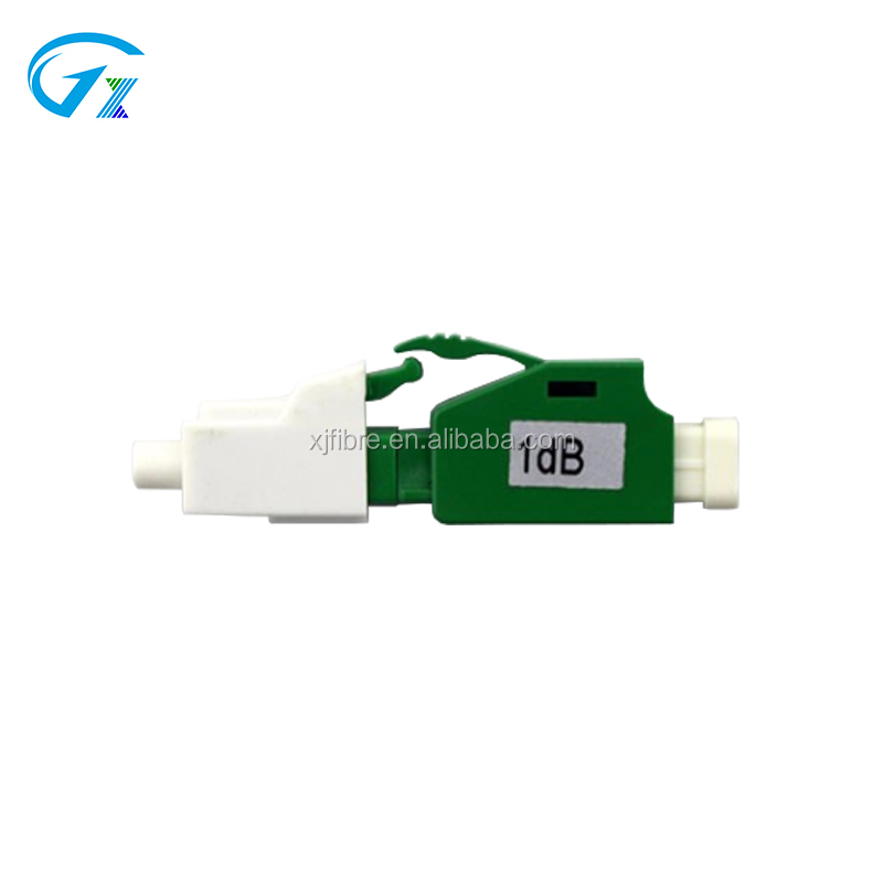 High Quality Low insertion Loss LC / APC Singlemode Simplex Fixed Male - Female Fiber Optical Network Attenuator