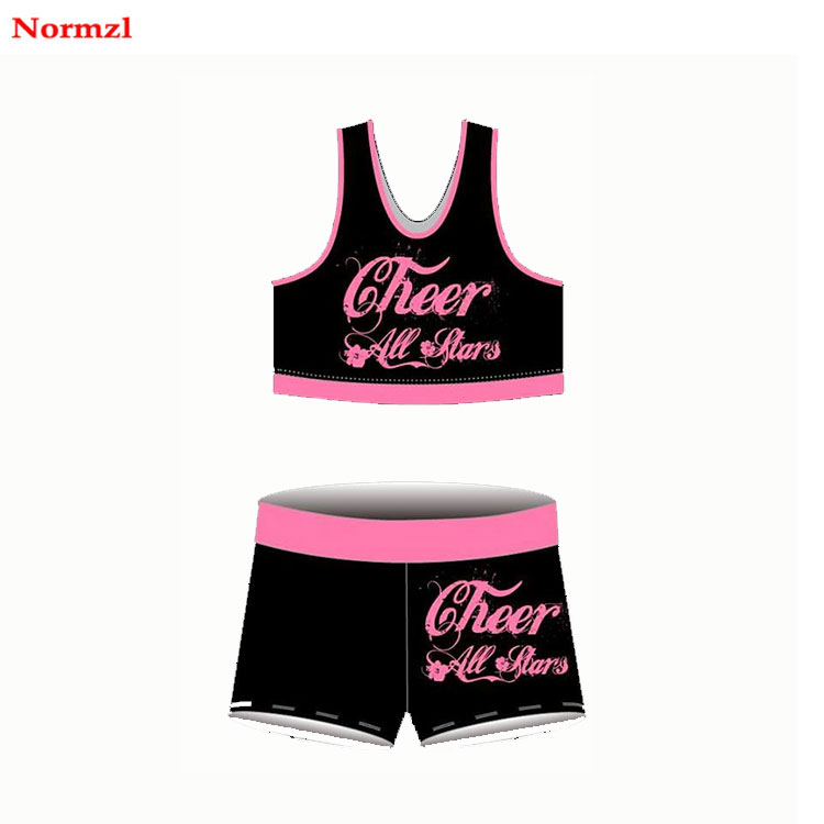 Wholesale Child Cheer Sports Bra And Shorts Uniform