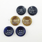 Fashion plastic solid colored shirt custom resin buttons